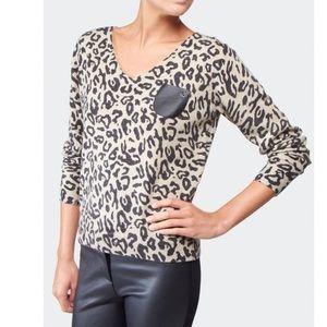 Armani Leopard Print Knit Sweater - Med 40